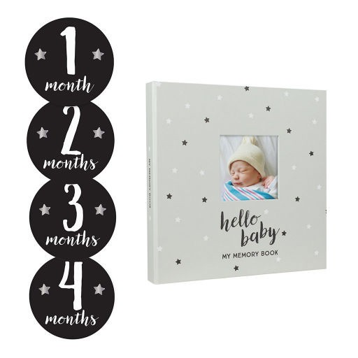 PEARHEAD BABY'S STAR'S MEMORY BOOK & STICKER SET