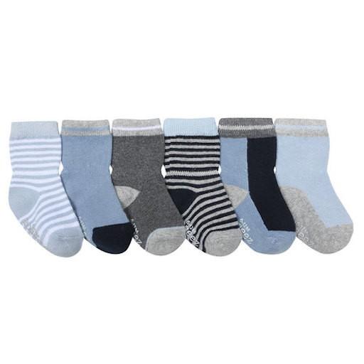 ROBEEZ BENJAMIN BLUE SOCKS, 6 PACK