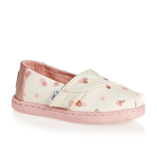 3842946433f TOMS SHOES PALE BLUSH PARTY DOTS TINY TOMS CLASSICS - BellaBoo