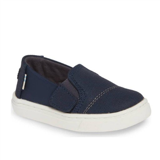 TOMS SHOES LUCA NAVY CANVAS