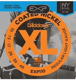 D'Addario - EXP110 EXP Coated NIckel Wound Electric Strings, 10-46 Light