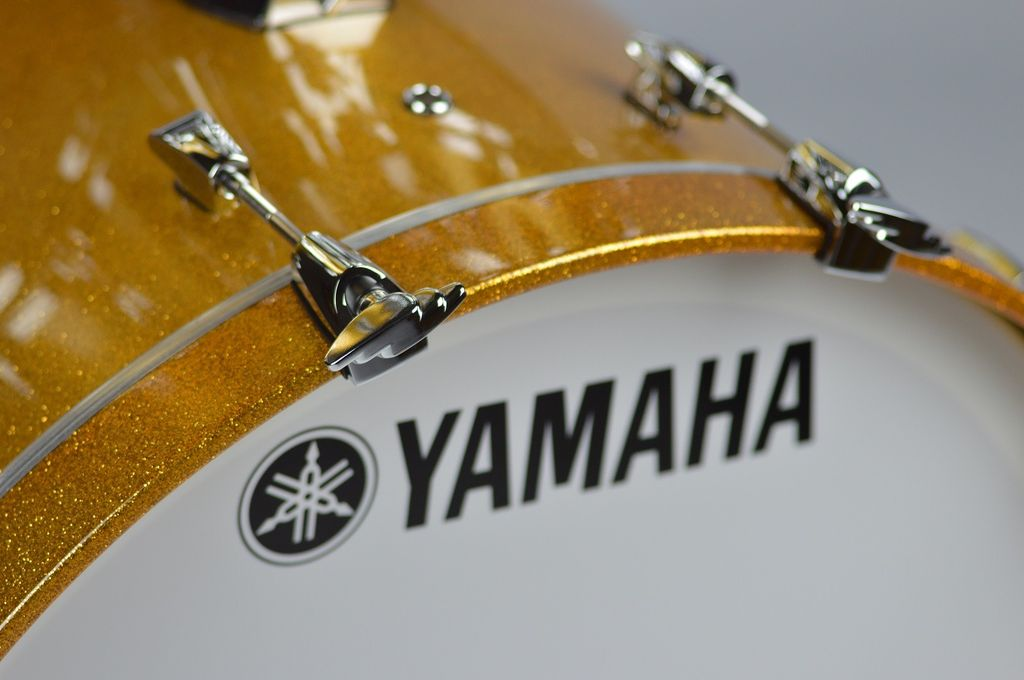 "Yamaha - Absolute Hybrid Bass Drum 20x16"", Gold Champagne Sparkle"