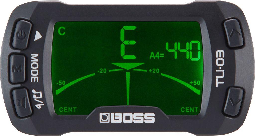 Boss - TU-03 Chromatic Clip-on Tuner & Metronome
