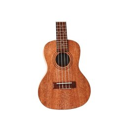 Twisted Wood - RR-200C Rock Roots Series Solid Mahogany Ukulele, Concert, w/Bag