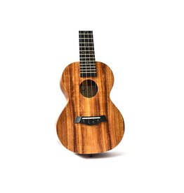 Twisted Wood - KO-1000C Solid Koa Series Ukulele, Concert, w/Bag
