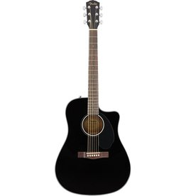 Fender - CD60SCE Dreadnought Cutaway Acoustic/Electric, Black
