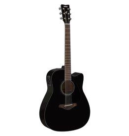 Yamaha - FGX800C Dreadnought Acoustic/Electric, Black