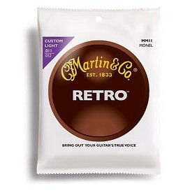 Martin - MM11 Retro Acoustic Strings, 11-52 Custom Light