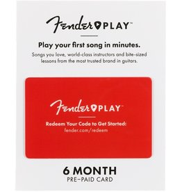 Fender - Play 6 Month Online Lessons Prepaid Card