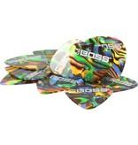 Boss - Celluloid Picks, Abalone, Heavy, 12 Pack