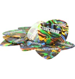 Boss - Celluloid Picks, Abalone, Heavy, 12 Pack
