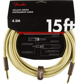 Fender - Deluxe Series Instrument Cable, Tweed, 15'