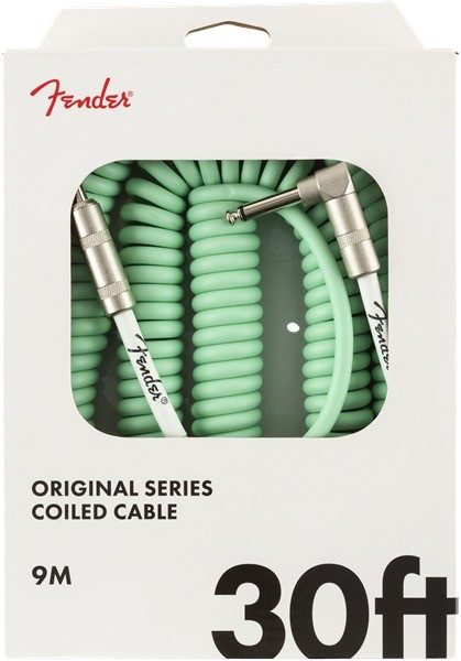 Fender - Original Series Coil Cable, Surf Green, 30'