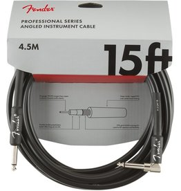 Fender - Professional Series Instrument Cable, Straight/Right Angle, 15'