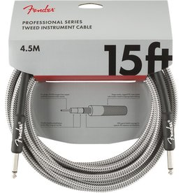 Fender - Professional Series Instrument Cable, White Tweed, 15'