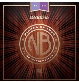 D'Addario - Nickel Bronze Acoustic Strings, 11-52 Light