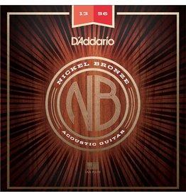 D'Addario - Nickel Bronze Acoustic Strings, 13-56 Medium