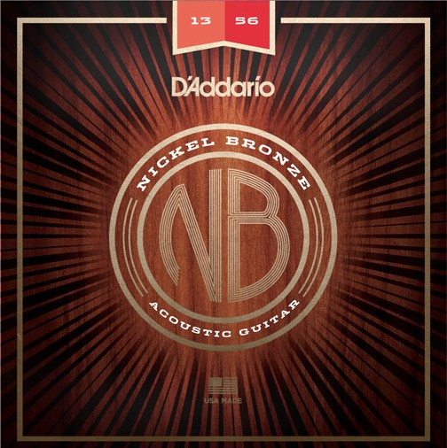 D'Addario - Nickel Bronze Acoustic Strings, 13-56 Medium
