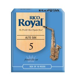 Rico - 10 Pack of Alto Saxophone Reeds, 5