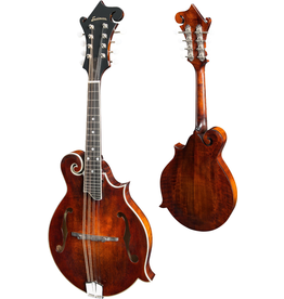 Eastman - MD515 F-Style Mandolin w/K&K Pickup, Antique Amber Varnish, w/Case