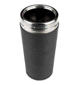 Fender - Travel Mug 16oz w/Black Leather