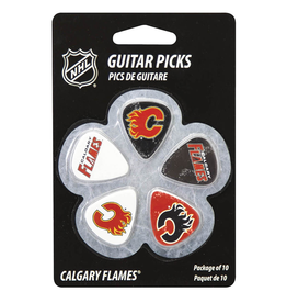 - Calgary Flames NHL Guitar Picks, 10 Pack