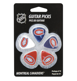 - Montreal Canadiens NHL Guitar Picks, 10 Pack