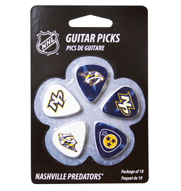 - Nashville Predators NHL Guitar Picks, 10 Pack
