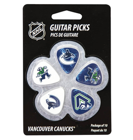 - Vancouver Canucks NHL Guitar Picks, 10 Pack
