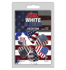 Perri's - Pick Pack, Red, White & Blue Collection, 6 Pack