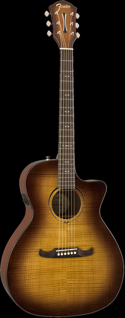 Fender - FA-345CE Auditorium Acoustic/Electric, 3-Tone Tea Burst