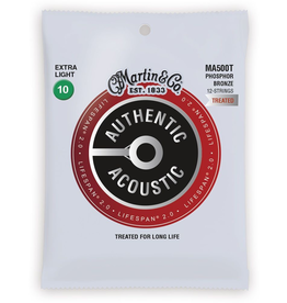 Martin - MA500T Lifespan 2.0 12-String Phosphor Bronze Authentic Acoustic Strings, 10-47 Extra Light
