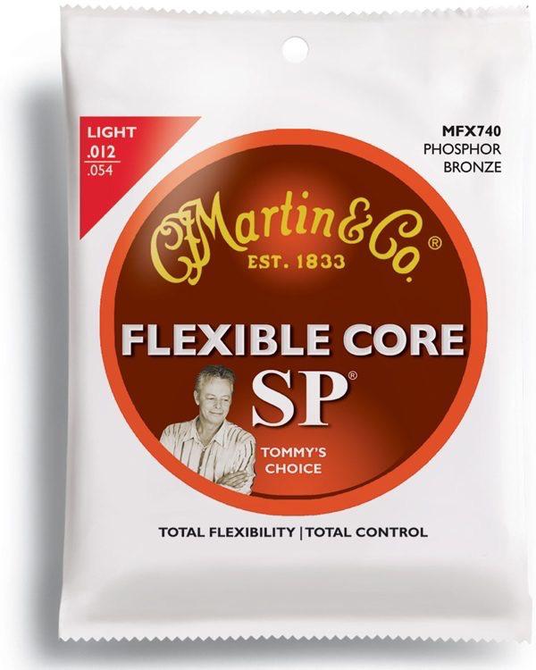 Martin - MFX740 Flexible Core 92/8 Phosphor Bronze Acoustic Strings, 12-54 Light