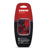 Shure - EABKF1-10M Replacement Black Foam Sleeves, Medium