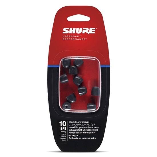 Shure - EABKF1-10M Replacement Black Foam Sleeves, Medium