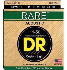 DR Strings - RARE Phosphor Bronze Acoustic, 11-50 Medium Light