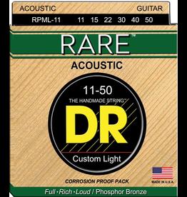 DR Strings - RARE Phosphor Bronze Acoustic, 11-50 Medium Light