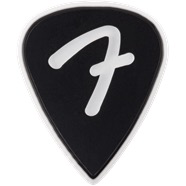 Fender - F Grip 351 Picks, Black, 3 Pack