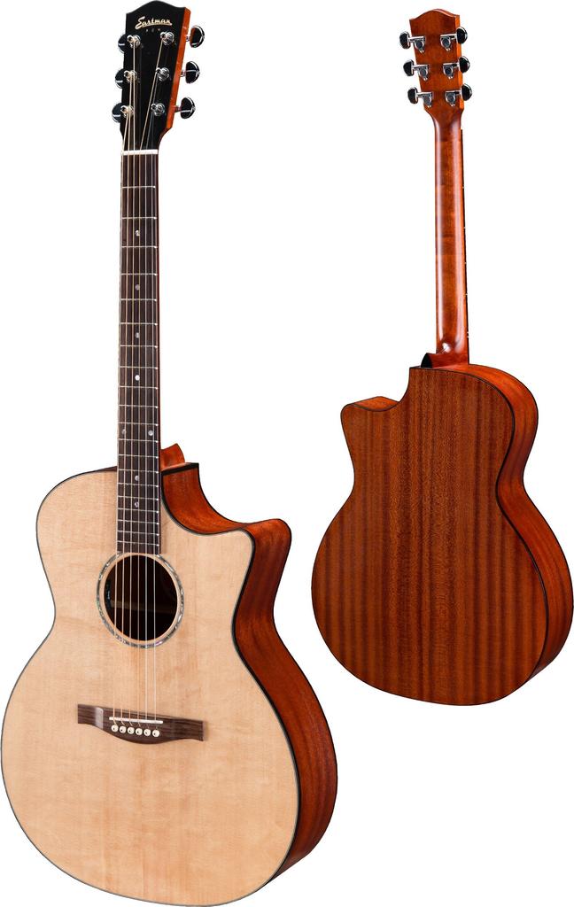 Eastman - PCH1-GACE Grand Auditorium Acoustic, Natural w/Pickup