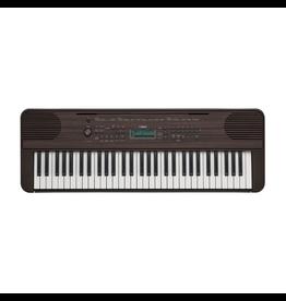 Yamaha - PSRE-360 61-Key Portable Keyboard, Dark Walnut