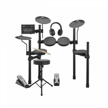 Yamaha - DTX402KC Electronic Drum Kit w/Stool & Headphones