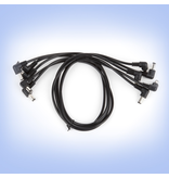 """Strymon - Replacement DC Power Cables, 18"""" Right > Right Angle (5 Pack)"""