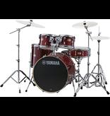 Yamaha - SBX2F56 Stage Custom Birch 5-Piece Drum Kit, Cranberry Red, w/Hardware