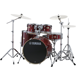 Yamaha - SBX2F56 Stage Custom Birch 5-Piece Drum Kit, Cranberry Red, w/Hardware