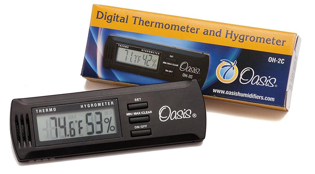 Oasis - OH-2C Digital Hygrometer Humidity/Temperature Sensor w/Case Clip