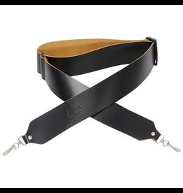 "Levy's - M9-BLK 2"" Leather Banjo Strap, Black"