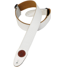 """Levy's - MSS7G-WHT 2"""" Garment Leather Guitar Strap, White"""