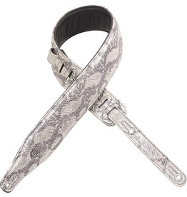"Levy's - PC17MS-SLV 2.5"" Leather Strap w/Metallic Snake Skin Facade, Silver"
