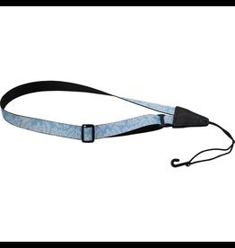 "Levy's - MP23-002 1"" Polyester Ukulele Strap, Blue w/Hawaiian Pattern"