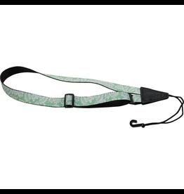 "Levy's - MP23-001 1"" Polyester Ukulele Strap, Green w/Hawaiian Pattern"